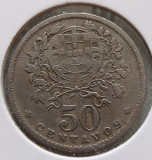 Portugalia 50 centavos 1931, Europa, Cupru-Nichel