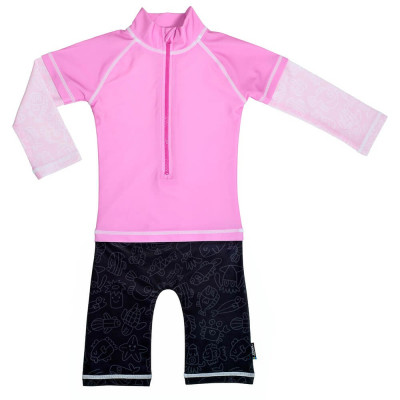 Costum de baie Pink Ocean marime 62- 68 protectie UV Swimpy for Your BabyKids foto
