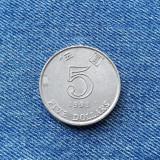 2d - 5 Dollars 1993 Hong Kong, Asia