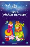 Ursul pacalit de vulpe. Carte de colorat cu povesti