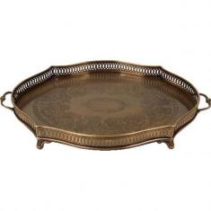 Tava metalica Antique Brass cu manere 33 x 52 cm