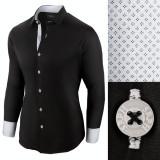 Camasa pentru barbati, casual, negru, regular fit - Business Class Ultra, L, M, S, XL, XXL, Maneca lunga