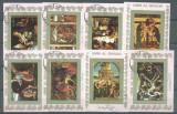 Umm al Qiwain 1973 Paintings, 8 mini sheet, used AT.047