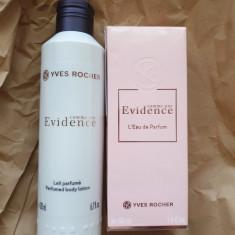 Set Apa de parfum COMME UNE EVIDENCE 50ml + LAPTE CORP Yves Rocher