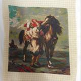 """Goblen """"Marocanul înșeind calul său"""" dupa E. Delacrois"""