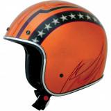 Casca semi-integrala AFX FX76 Vintage, portocaliu/crom, L Cod Produs: MX_NEW 01041180PE