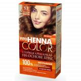 Vopsea de par permanenta fara amoniac FITO Henna Color 5.3 CASTANIU AURIU