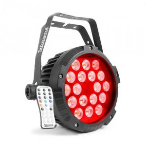 Beamz BWA418, reflector led par spot, 18x12w, led, 4în1, rgbw, ip65, negru