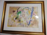Tablou abstract realizat de marele artist consacrat Corneliu Vasilescu