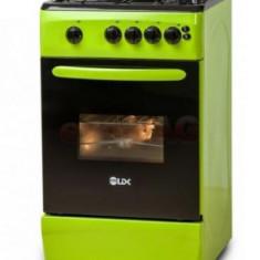 Aragaz LDK GRAI Green NG, 4 Arzatoare, Aprindere electrica, 50cm, Verde
