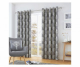 Set 2 draperii Woodland Trees Grey 229x229 cm