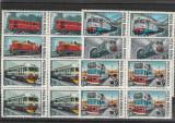 Locomotive ,bloc de 4, Nr lista 1186,  Romania .
