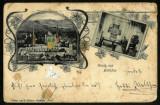Carte Postala 1900 LITHO Sibiu Hermannstadt Salutari Biertan Gruss Aus Birthalm, Circulata, Fotografie