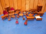 Colectie mini mobilier din lemn vintage