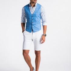 Vesta premium eleganta barbati V50 albastru inchis
