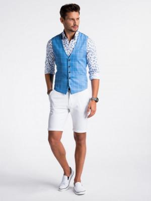 Vesta premium, eleganta, barbati - V50-albastru-inchis foto