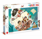 Cumpara ieftin Puzzle Super Color Piratii, 104 piese