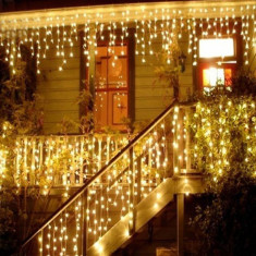 Perdea luminoasa 20 m, 400 LED-uri, 8 programe cu memorie, alb rece, exterior IP44