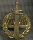 Y 1538 INSIGNA- MILITARA -SEMN DE ARMA - JUSTITIE MILITARA  -PENTRU COLECTIONARI