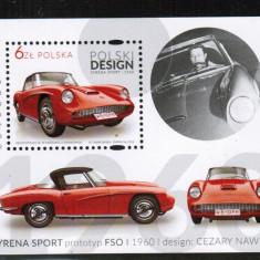 Polonia, masini clasice, bloc, 2016, MNH**