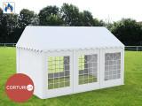 3X6 M CORT EVENIMENTE PROFESIONAL ECONOMY, PVC ignifug 500 g/m² ALB