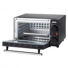 Cuptor Kompact Unold, 850 W, 9 L, temperatura reglabila, geam termopan, placa detasabila, timer, accesorii incluse, Negru