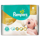 Scutece Pampers Premium Care 0 New Born Carry Pack, 30 buc/pachet