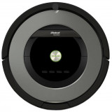 Robot de aspirare iRobot Roomba 866, Antiangle, Filtru HEPA, Wall Follow, Program SPOT, iAdapt, Argintiu/Negru