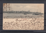 CONSTANTA  PORTUL  SI  VEDEREA  ORASULUI   CLASICA  CIRCULATA 1901