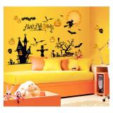 Cumpara ieftin Sticker decorativ Halloween pentru perete si fereastra Giftify Happy Halloween