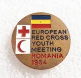 Insigna medicina - Intalnirea europeana de crucea rosie 1984