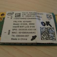 Placa wireless laptop Lenovo ThinkPad X201, Intel WiFi 5100, 512AN_MMW, 43Y6493