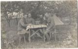 B2230 Soldati austro-ungari cu centrala telefonica 1917 poza veche
