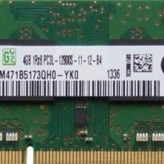 Memorie Samsung Sodimm 4GB PC3-12800 DDR3 1600Mhz  PC3L 1.35V, M471B5173QH0