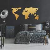 Cumpara ieftin Decoratiune pentru perete, Ocean, metal 100 procente, 121 x 56 cm, 874OCN1013, Auriu