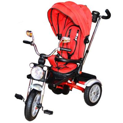 Tricicleta cu maner, scaun rabatabil si roti cauciuc foto