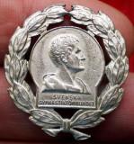 I.812 INSIGNA SUEDIA FEDERATIA SUEDEZA DE GIMNASTICA h28mm argintie, Europa