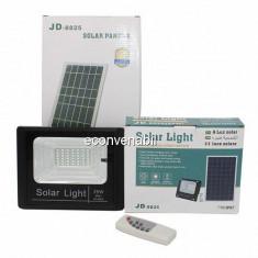 Proiector 42LED SMD 25W cu Panou Solar si Telecomanda IP67 JD8825