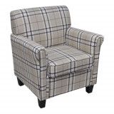 Cumpara ieftin Fotoliu canapea cu pernă de scaun, material textil, crem
