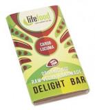 Ciocolata MINI cu lucuma si carob raw bio 15g