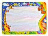 Set Covoras Educativ XXL de Desenat pentru Copii, cu Sabloane, Stampile si Markere, 100x80 cm