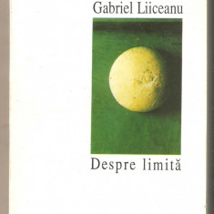 Gabriel Liiceanu-Despre limita