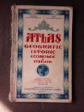 ATLAS GEOGRAFIC, ISTORIC, ECONOMIC SI STATISTIC - CONST. TEODORESCU, EDITIA VII