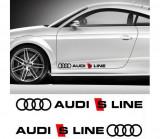 Sticker auto laterale Audi S Line (set 2 buc.)