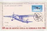 bnk fil Plic ocazional 50 ani aviatie civila - Icar Comercial Lares - 1980