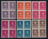 1944 ROMANIA Emisiunea locala Tg Mures seria postala 6 timbre neuzate MNH bloc 4