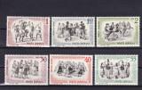 ROMANIA 1966  LP 626  DANSURI  POPULARE  SERIE  MNH