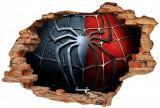 "Sticker ""Wall Crack"" Spiderman 4 - 120 x 80 cm"