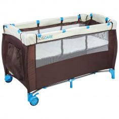 Patut pliabil cu etaj superior si masa de infasat Kidscare for Your BabyKids