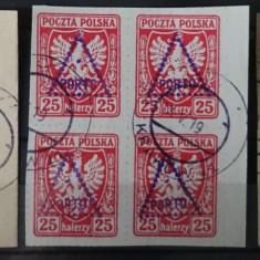 3 Blocuri de timbre Polonia 1919
